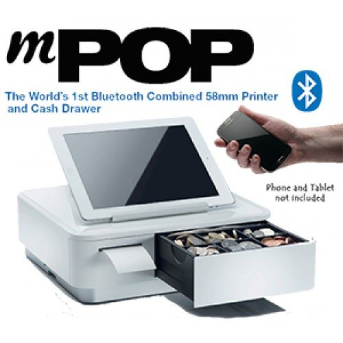 Star mPOP Advanced POS Solution: Combined Bluetooth POS Receipt Printer and Cash Drawer