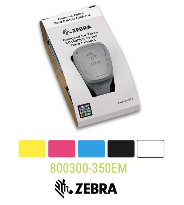 Zebra 800300-350EM YMCKO ribbon