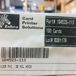 Zebra MSR PVC Cards